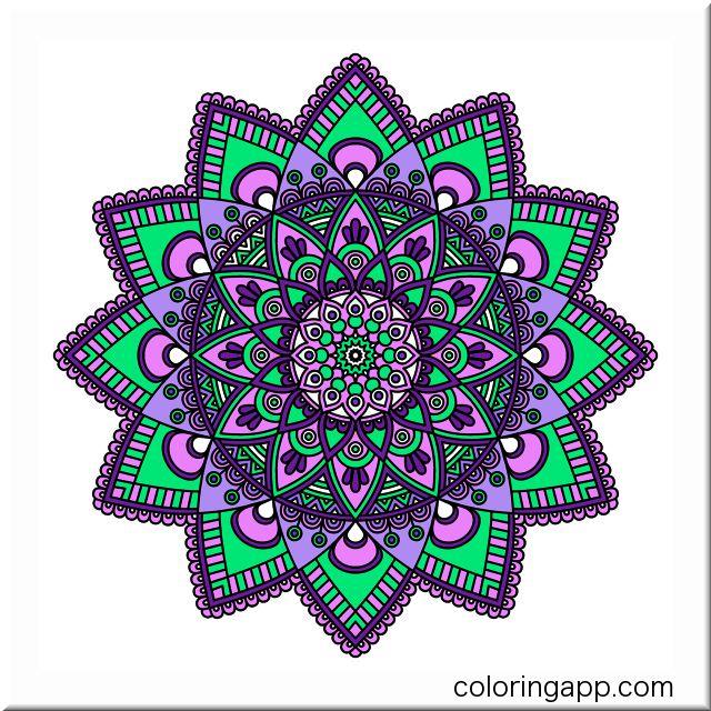 Mandalacoloringbook Coloringapp Coloringapp Coloringbookforadults Coloringforadults Mandala Malvorlagen