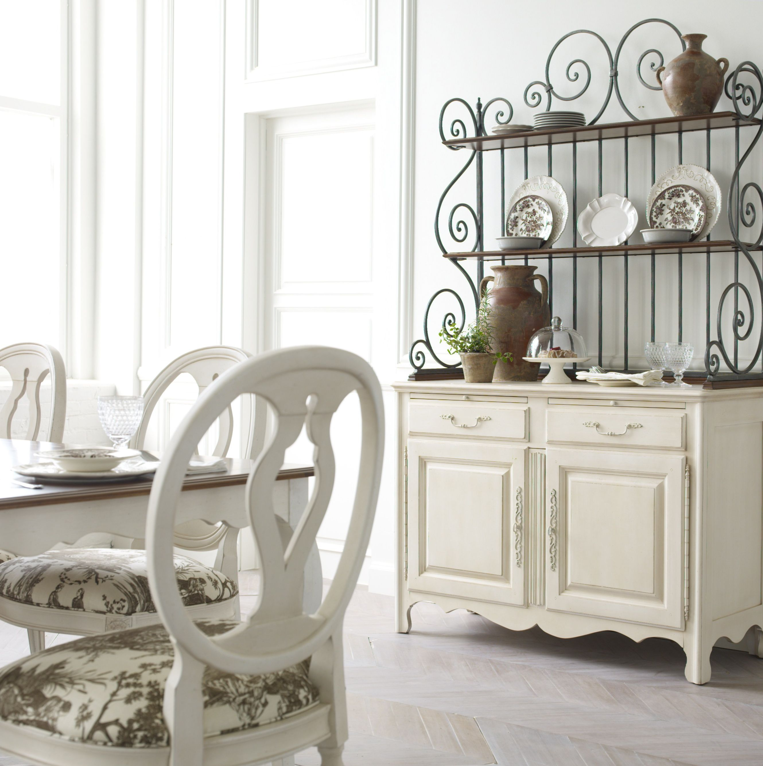 the genevieve buffet and baker s rack is a sweet spot for serving
