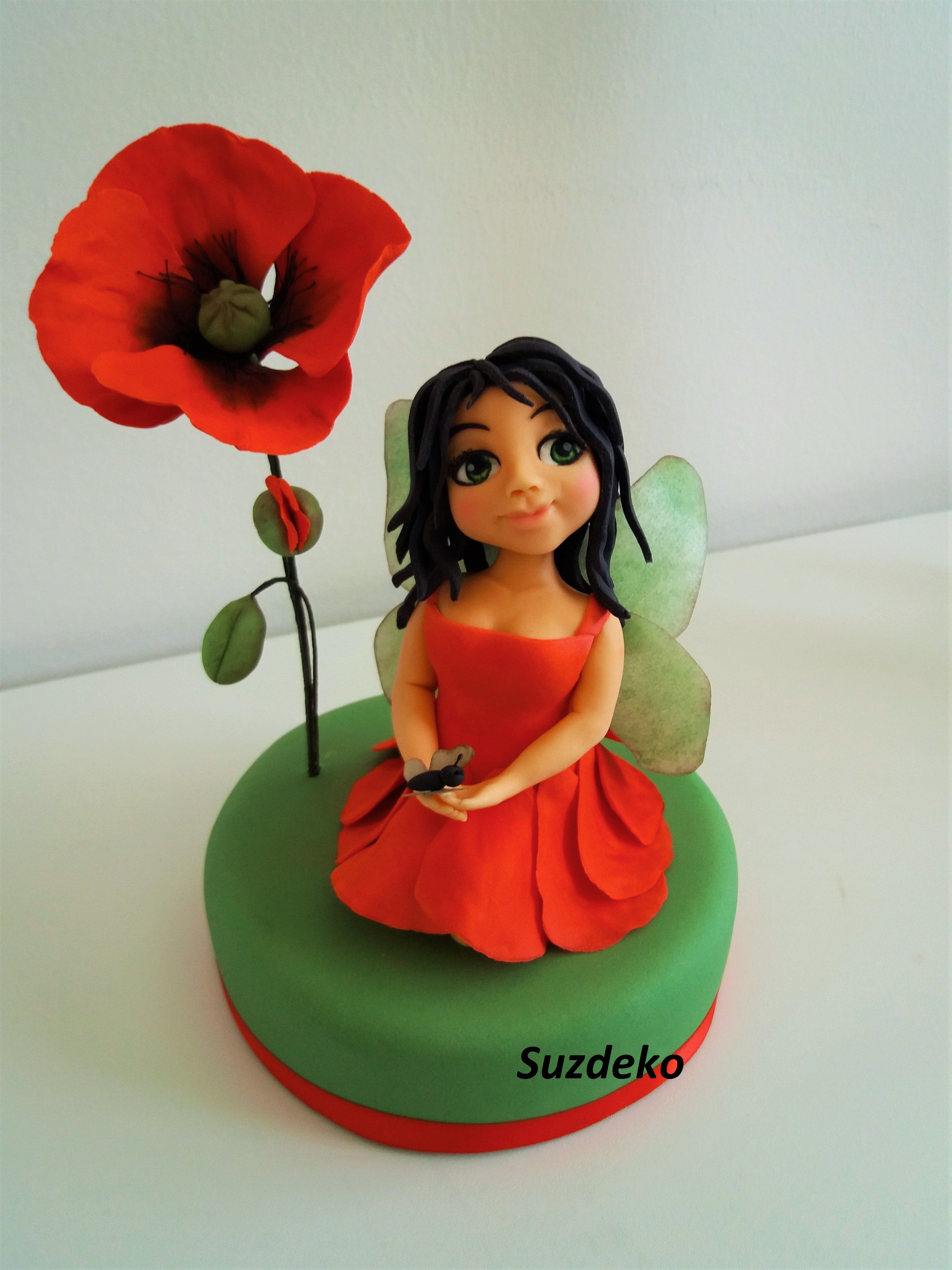 Cake topperpoppy fairy mohnfee cake toppers topper