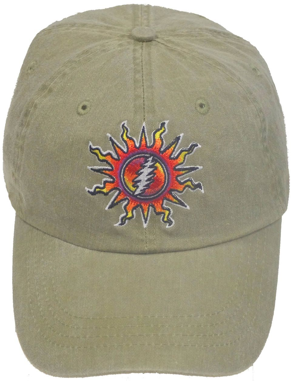 Hats New Authentic Grateful Dead Navy Lightning Bolt Embroidered Ball Cap Hat