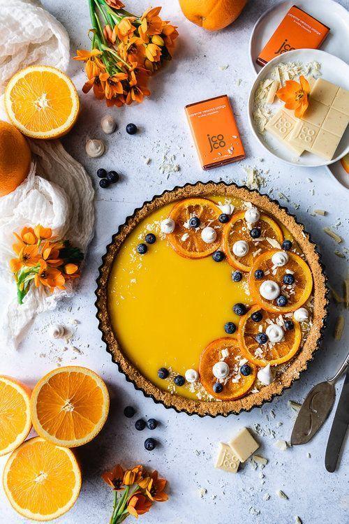 Orange Curd & Spicy White Chocolate Tart