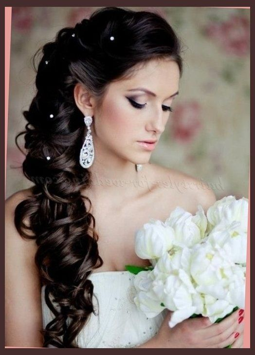 Curly Hairstyles For Long Hair For Wedding : Wedding hairstyles for long hair half up down with veil short