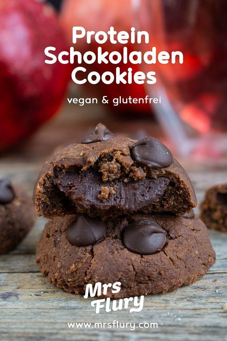 Triple Chocolate Protein Cookies vegan - Mrs Flury - gesund essen & leben #gesundesessen