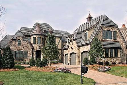 Houses With Turrets   European House Plans With Turrets   European House  Plans With Photos .
