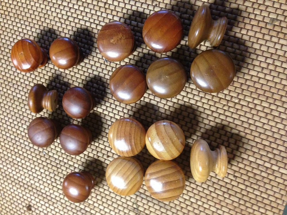 18 Vintage 70 S Solid Pine Wood Round For Chest Drawer Handles Door Pulls