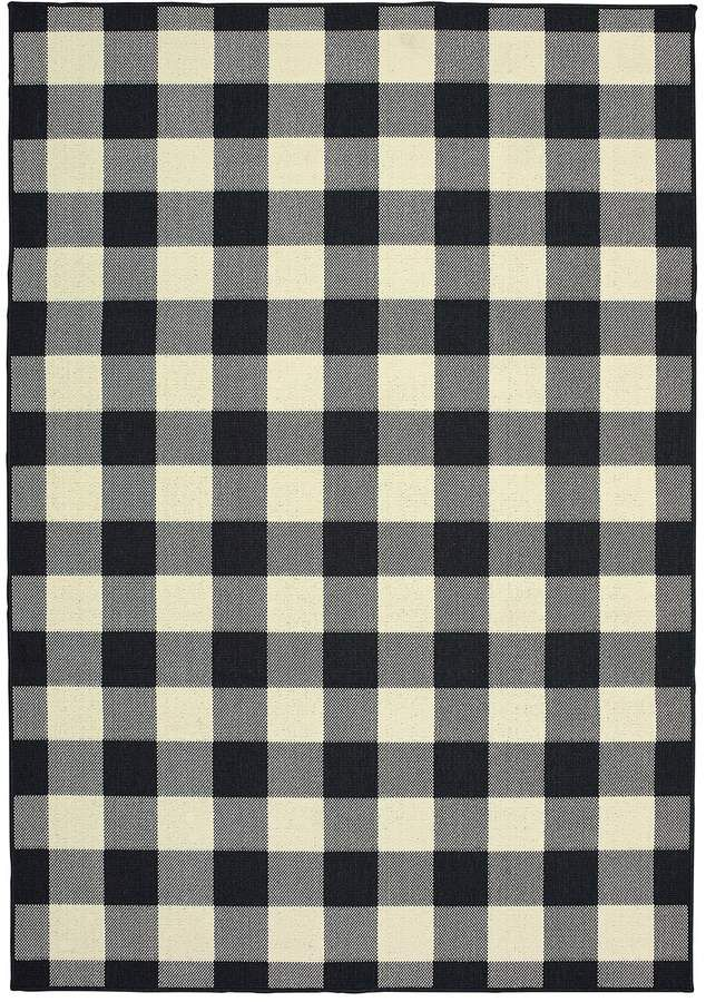 Stylehaven Mainland Gingham Plaid Indoor Outdoor Rug In 2020 Indoor Outdoor Area Rugs Buffalo Plaid Pattern Outdoor Rugs
