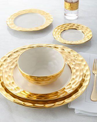 Truro Gold Dinnerware Gold Dinnerware Dinnerware Tableware Luxury Dinnerware White and gold dinner plates