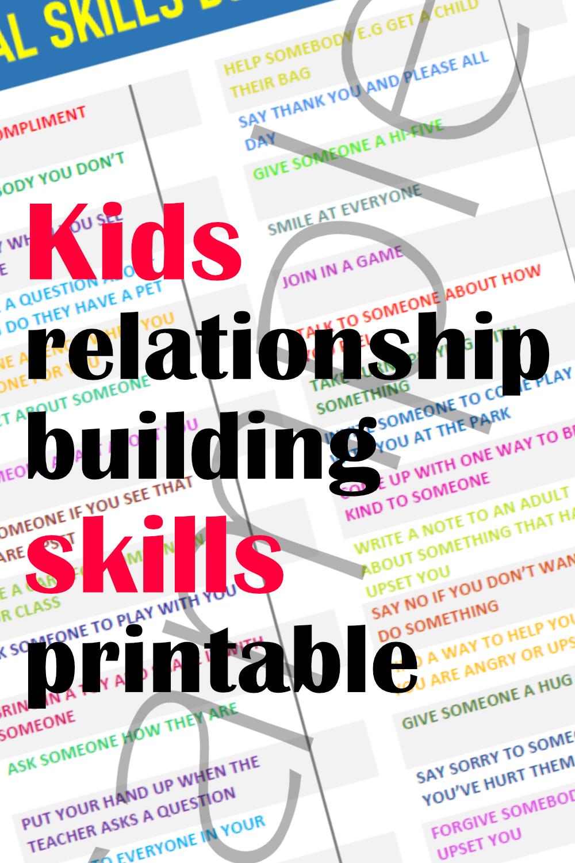 Social Skills Printable Checklist For Kids Teaching Etsy Social Skills Teaching Social Skills Relationship Skills Activities