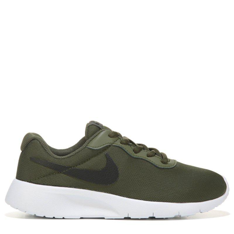 8f9c93c862e726 Nike Kids  Tanjun Running Shoe Grade School Shoes (Legion Green Black) -  3.5 M