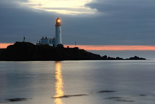 Turnberry Lighthouse in the gloaming; Scotland