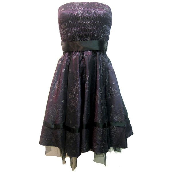 Prom Dress Purple Satin | Gothic Clothing | Emo clothing ...
