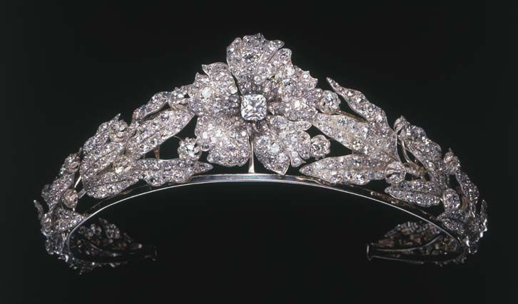 diamond tiara, mellerio, formerly property of queen marguerite of italy.