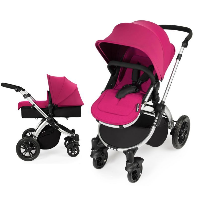 Ickle Bubba Stomp V2 Silver Frame 2in1 Pushchair-Pink Description: The Stomp 2 in 1 pushchair is the essential package for day to day travelling whilst your ickle bubba grows from infant to toddler Carefully designed with equal consideration for both functionality and style, the Stomp 2 in 1 pushchair not only looks great but glides effortlessly... http://simplybaby.org.uk/ickle-bubba-stomp-v2-silver-frame-2in1-pushchair-pink/