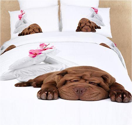Bulldog Puppy Dog Themed Girls Bedding Twin Or Queen Duvet