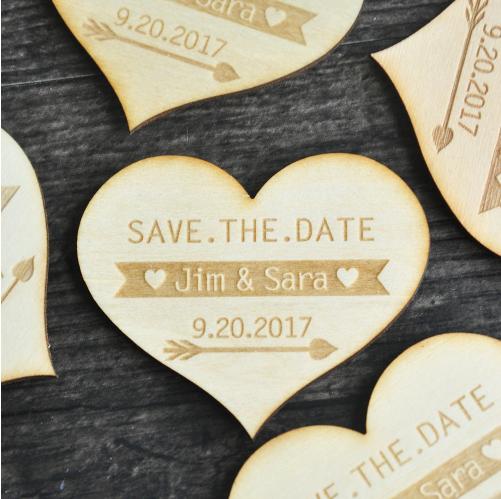 Ongekend Save the Date magneet hart | Magneten, Hart VU-24
