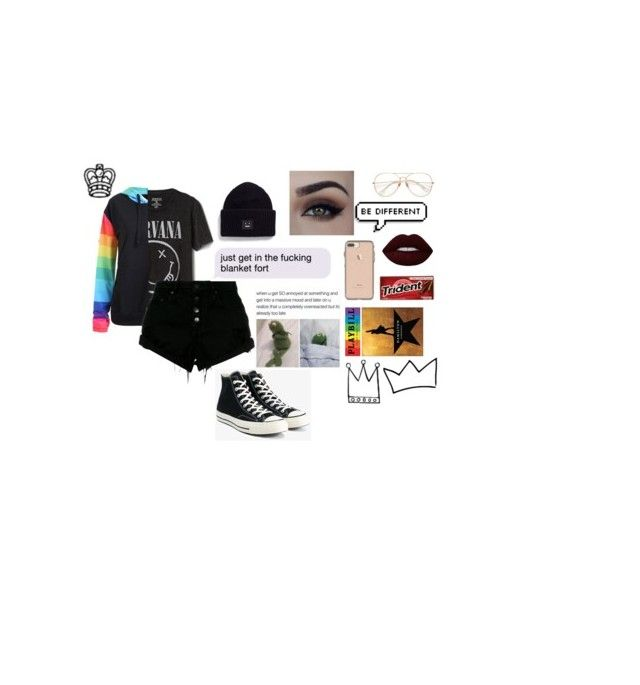 """""""for Griffy (check items buddy)"""" by qxeen-ty ❤ liked on Polyvore featuring Gap, Nobody Denim, Converse, Acne Studios and Lime Crime"""
