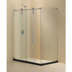 Dreamline Enigma Z 32 X 48 Fully Frameless Sliding Shower Enclosure, Clear  Glass, Polished Stainless Steel P