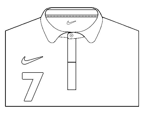 Dibujo De Camiseta Del Mundial De Futbol 2014 De Francia Para