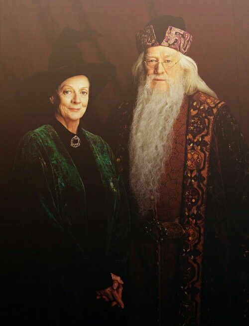 Minerva McGonagall Dame Maggie Smith Professor Albus Percival Wulfric Brian Dumbledore Michael
