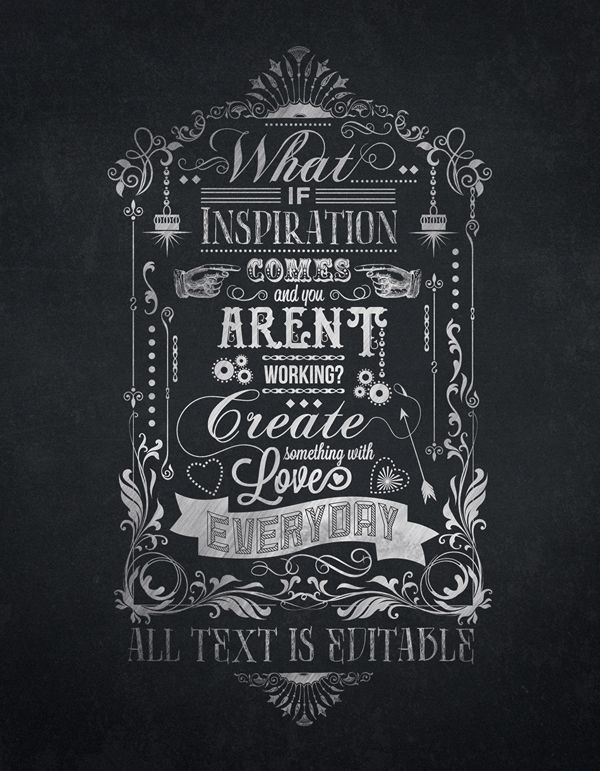 Chalkboard Typography Template by Bruno Maioral, via Behance | Type ...