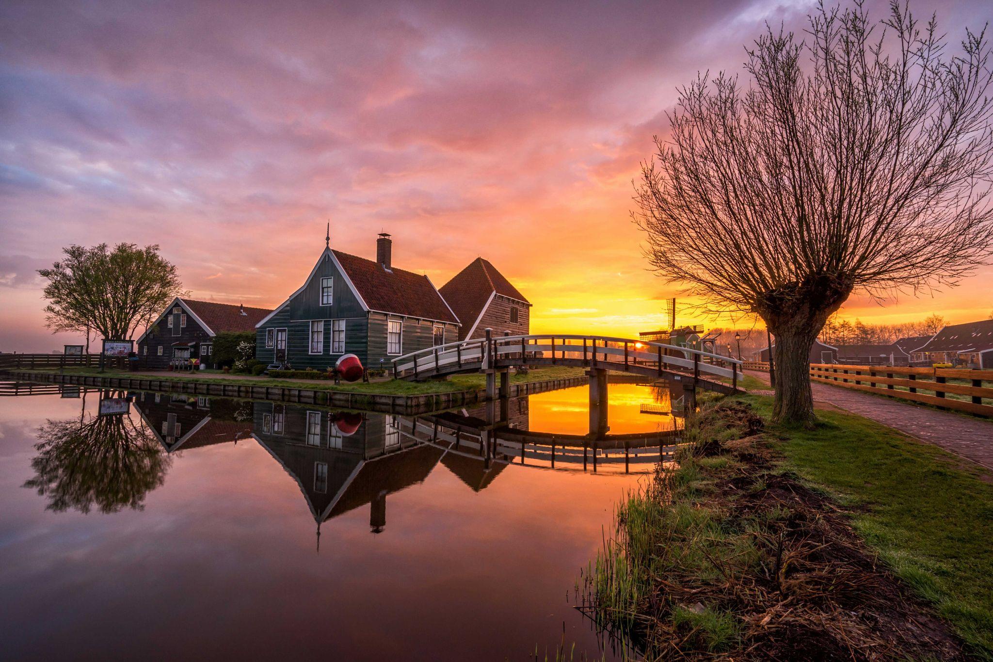 Sunrise at the Schans -