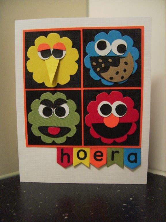 Voor onze kleinzoon Ruben die maandag 3 jaar wordt,  heb ik deze vrolijke verjaardagskaart gemaakt.          Met deze kaart ga ik meedoen a...