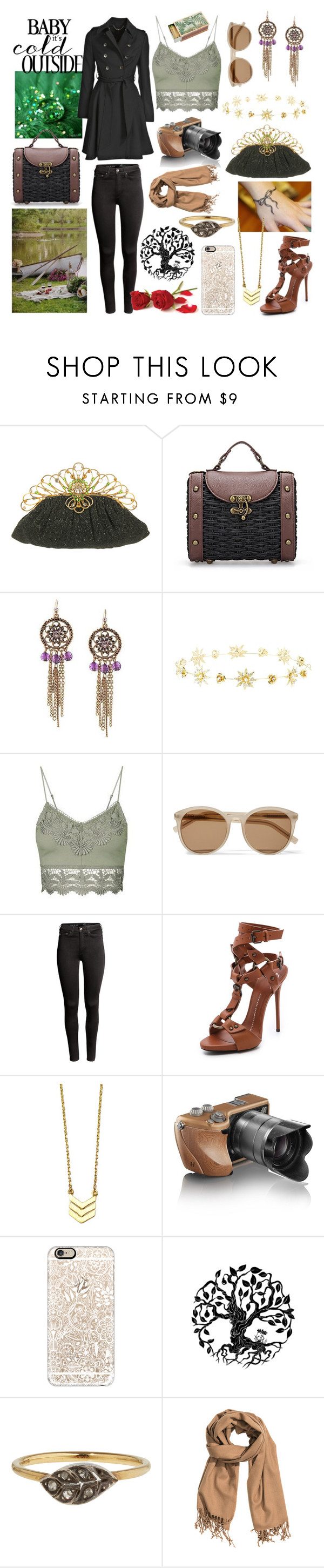 """Cold"" by tery ❤ liked on Polyvore featuring 1928, Charlotte Russe, Topshop, Yves Saint Laurent, H&M, Giuseppe Zanotti, Hasselblad, Casetify, Alex and Ani and Annina Vogel"
