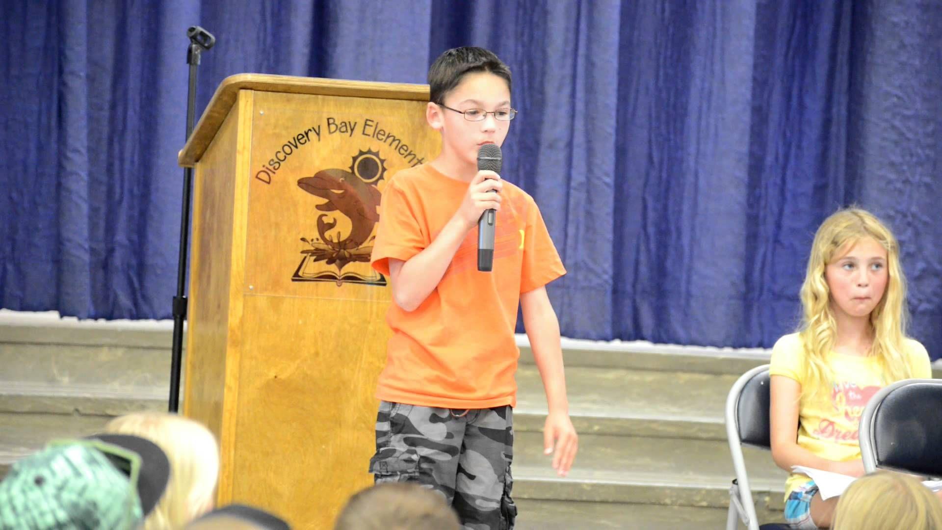 Best 3rd Grade Speech Ever