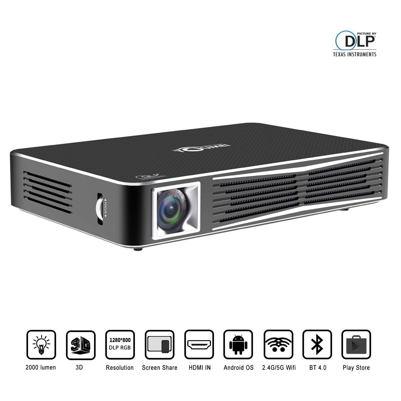 Toumei V3 Smart Video Projector Dlp Home Theater Wifi Bluetooth Portable Mini Office