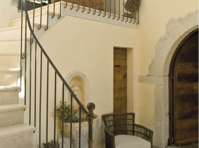 Restored Provencal Farmhouse | Cement Stairs + Iron Railing