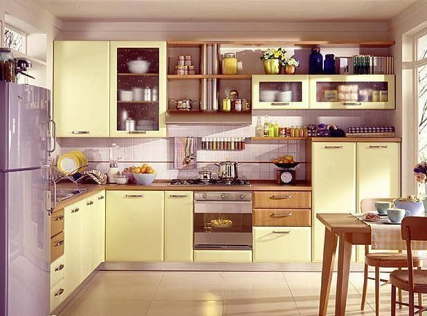 Excellent Pastel Kitchen With Yellow