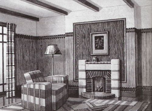 Living Room 1930s living room britain 1936 | 1930s, sitting rooms and living rooms