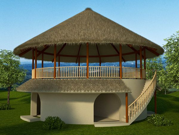 33 10m Roundhouse 2 Bedroom Round House Plans African House Village House Design