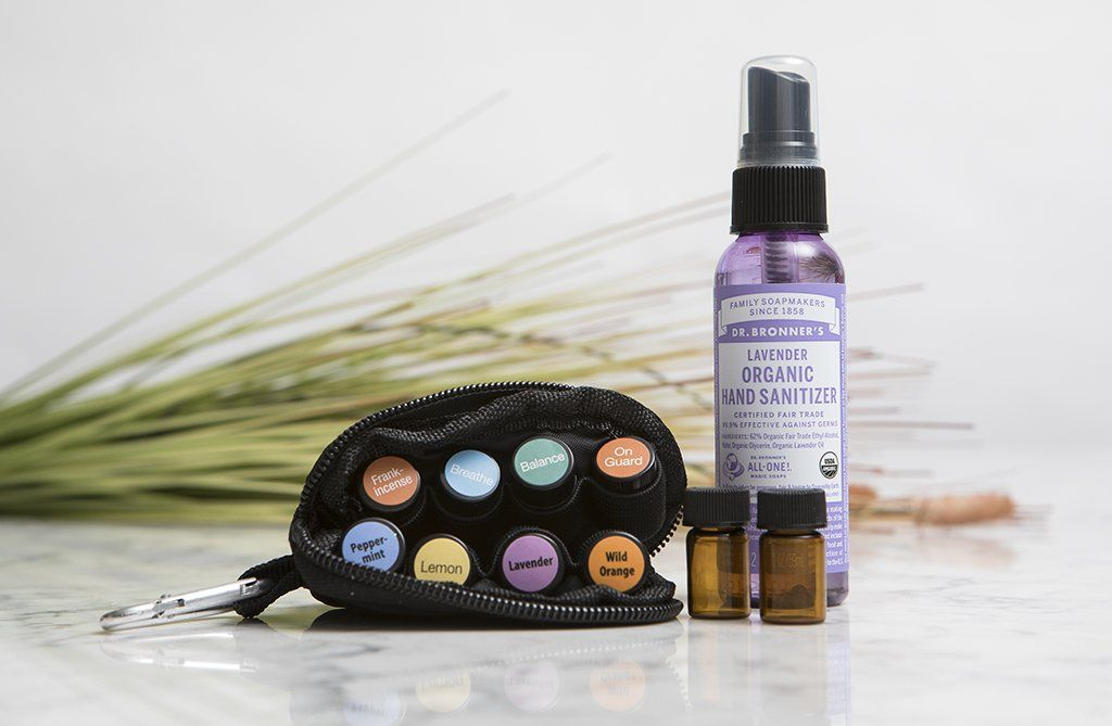Ready For Anything Essential Oils Travel Bag Hand Sanitizer