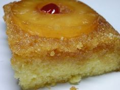 Pineapple Upside Down Cake using Cake Mix--super easy and is in the oven right now!
