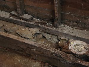 Rot Stud Sill Joist Replace A Rotten Sill Plate For The Home In 2019 Flooring Plates Home