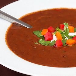 Spicy Black Bean Soup ~ healthy and SO flavorful!