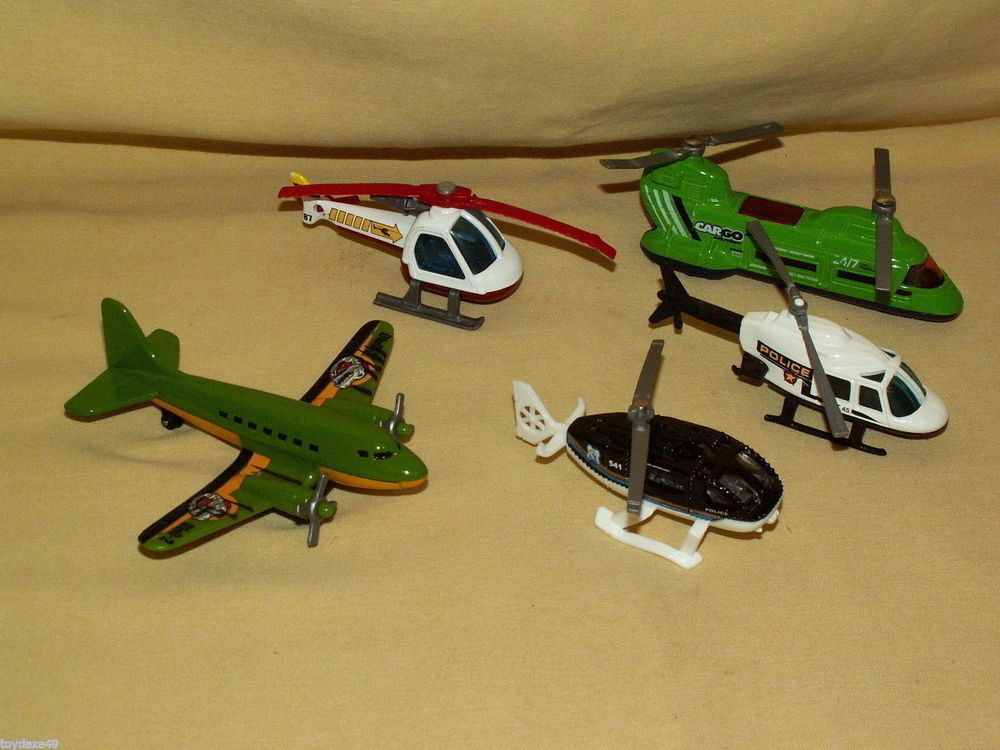 Helicopter airplane lot 5 matchbox hot wheels police - Avion hot wheels ...