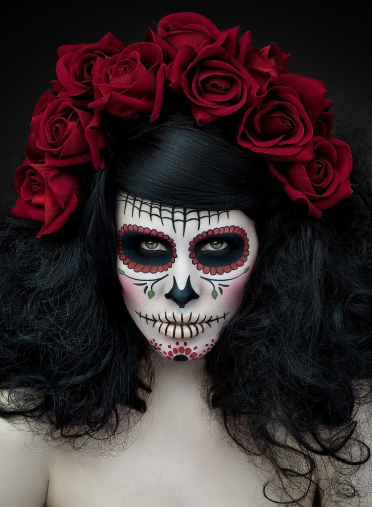 Image Result For Scary Sugar Skull Makeup Day Of The Dead Costume - How-to-do-day-of-the-dead-makeup