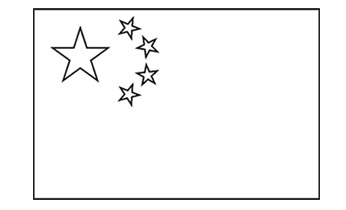 china flag outline - Google Search | MFL | China for kids ...