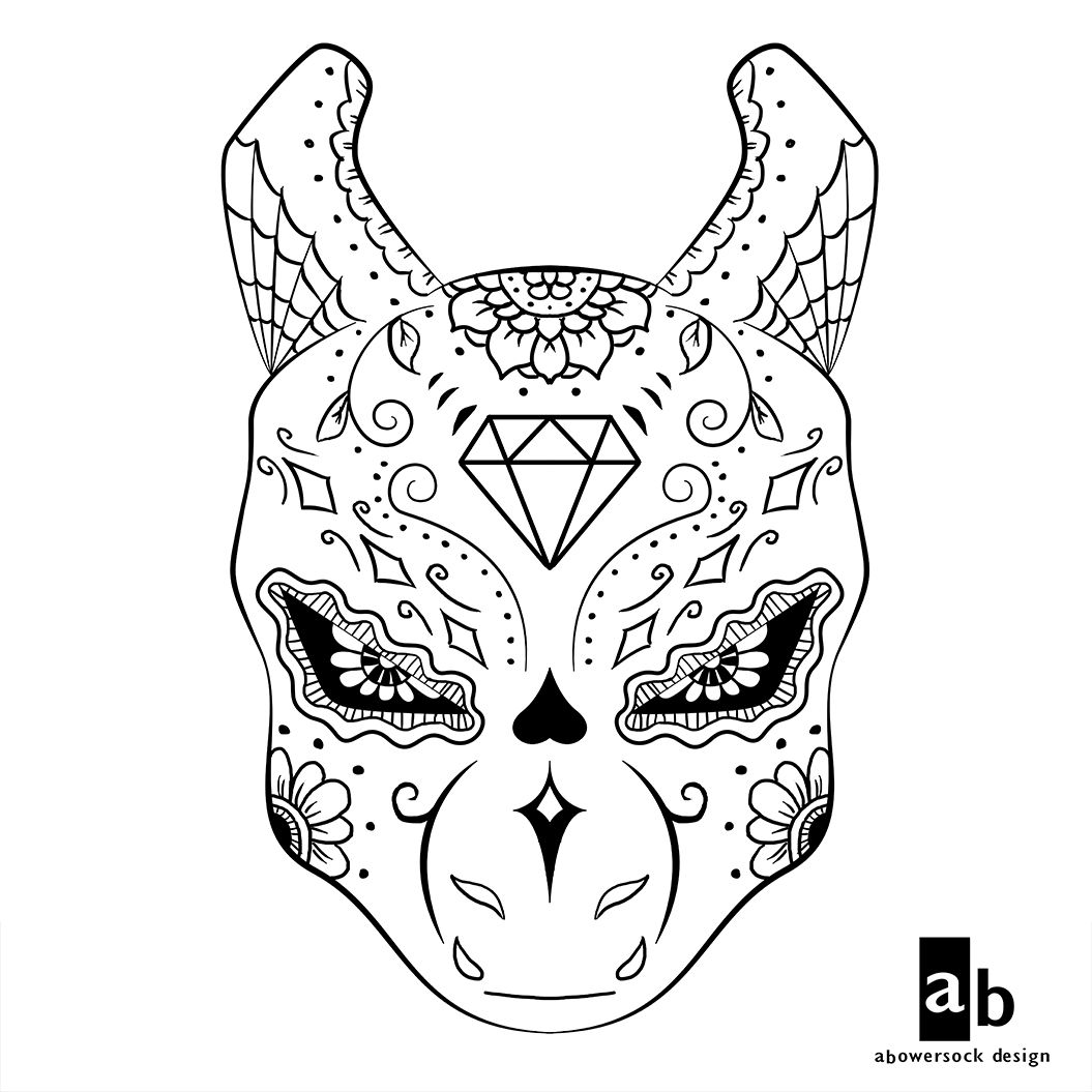 Pokemon coloring pages hydreigon - Pokemon Dia De Los Muertos Designs