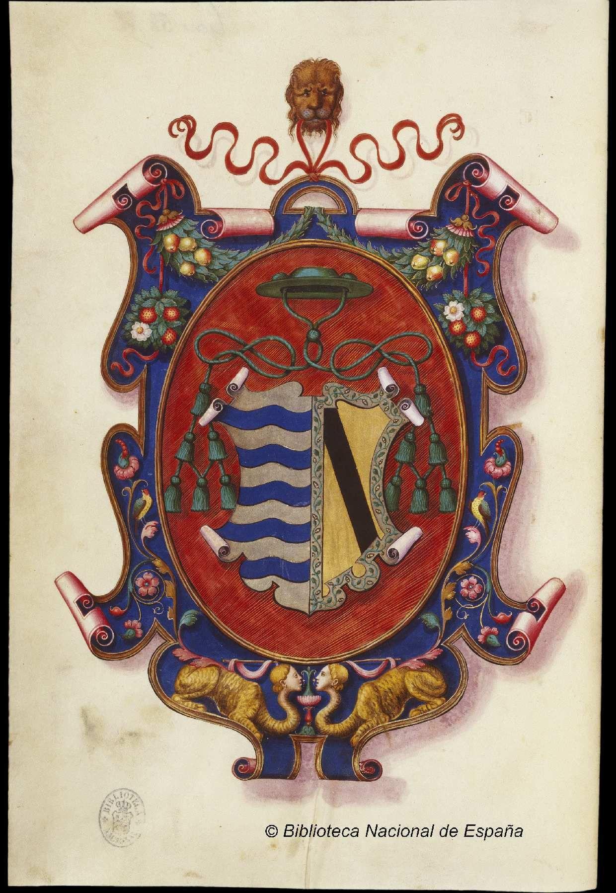 Escudo De D Gutierre De Vargas Y Carvajal Obispo De Plasencia Escudo Escudo De Armas Biblioteca Nacional De Espana