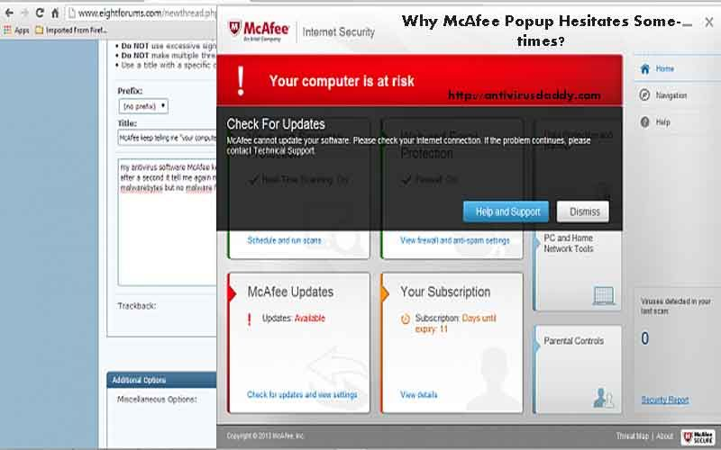 how to disable mcafee popups