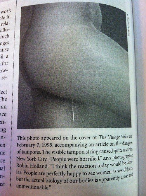pics Visible tampon string