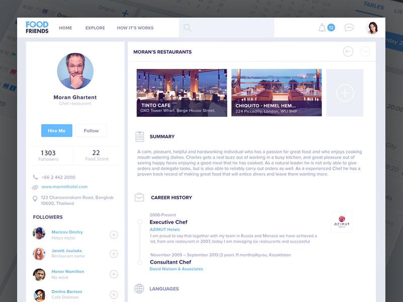 Resume profile Web