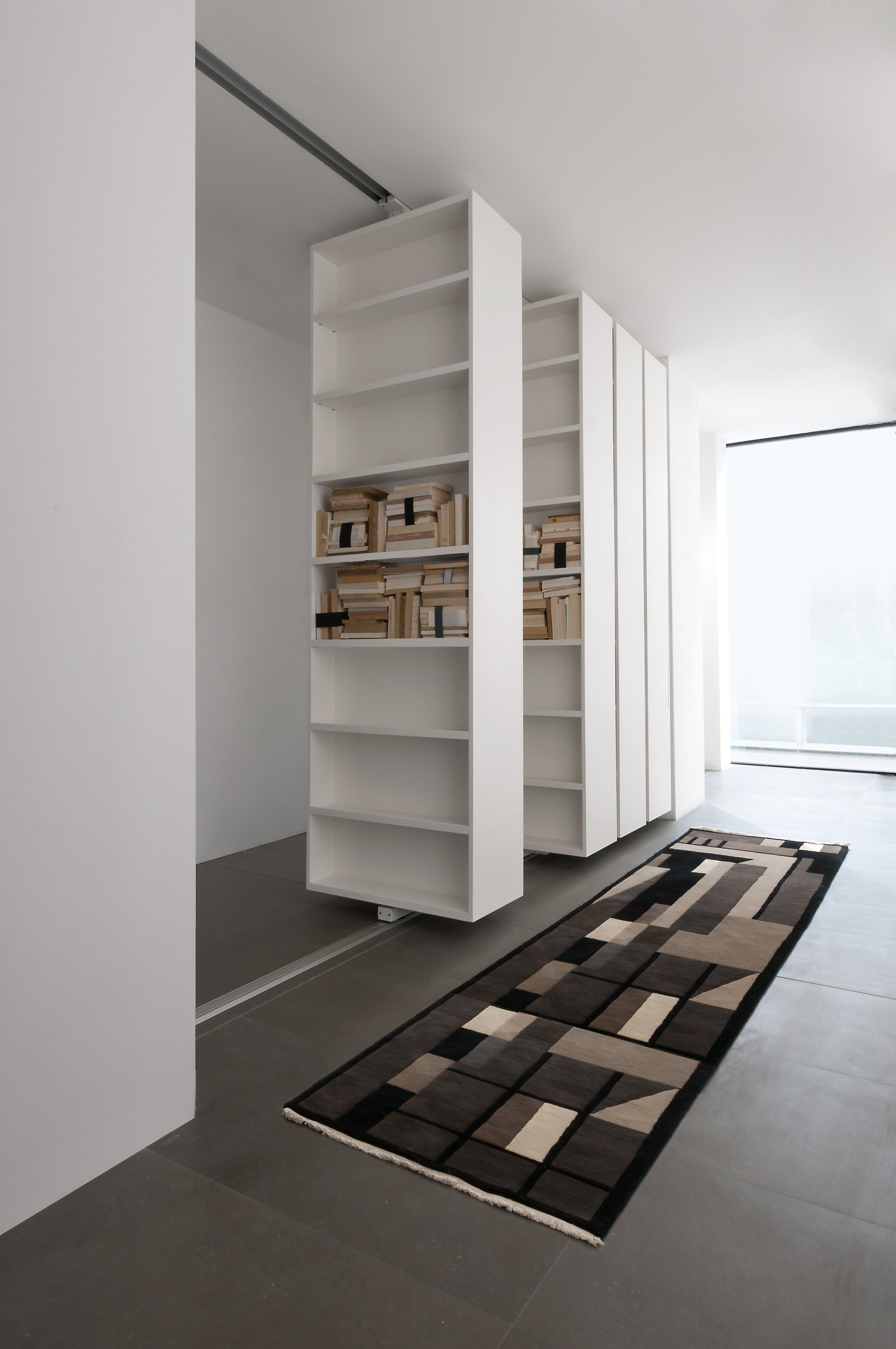 Vista bookcase by albed by delmonte design massimo luca living