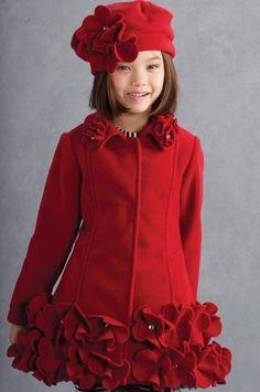 Kate Mack Red Holiday Coat for Girls   Infantil moda   Pinterest ...