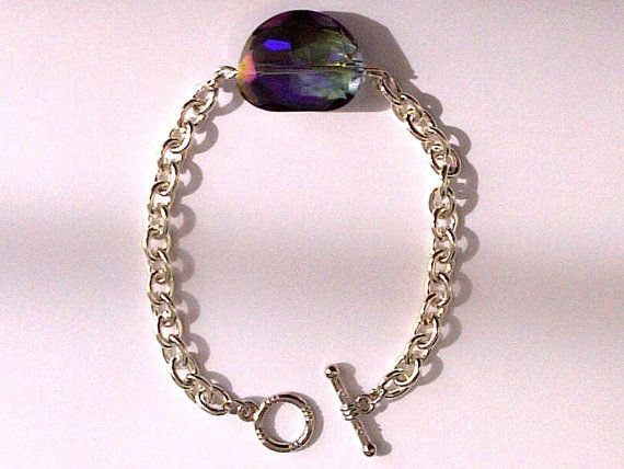 Silver Plated Tiffany Style Chain Bracelet by CharmingChainsShop, $20.00
