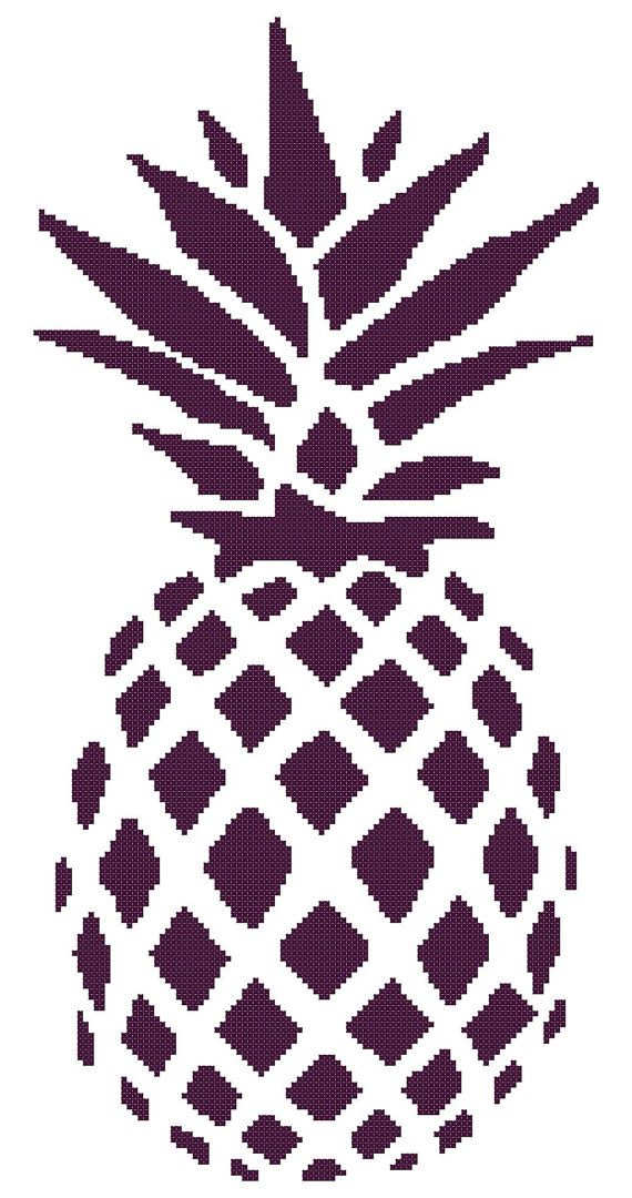 Perfect Pineapple - a Counted Cross Stitch Pattern | Kreuzstich ...
