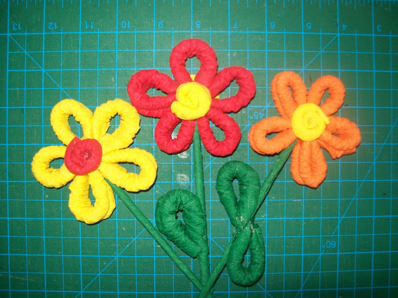 Paso a paso como hacer flor de papel crepe papel crepe - Www como hacer flores com ...